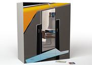 Шкаф 3-х дверный с зеркалом Pilot