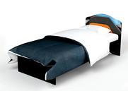 Кровать  с кож. вставкой Pilot