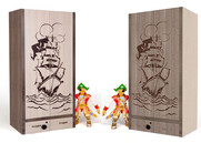 Шкаф 2-х дверный Pirat комбинированный
