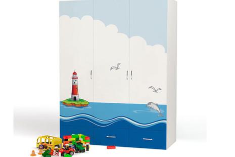 Шкаф 3-х дверный Ocean