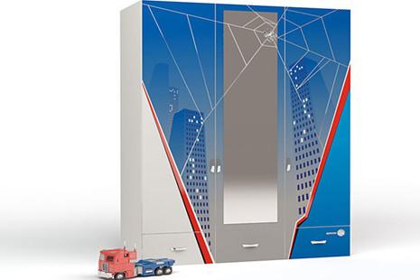 Шкаф 3-х дверный Человек паук с зеркалом